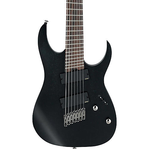 ibanez rg iron label multi scale 7 string electric guitar weathered black guitar center. Black Bedroom Furniture Sets. Home Design Ideas