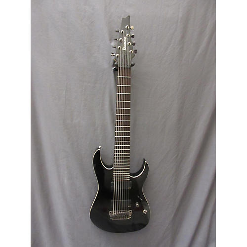 Ibanez RGIR28FE Iron Label 8 String Black Solid Body Electric Guitar-thumbnail