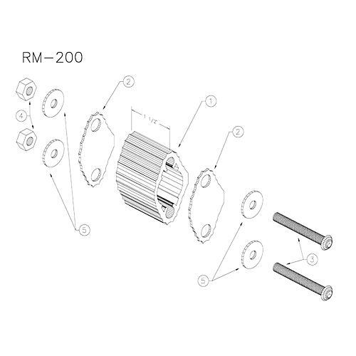 Yamaha RM200 Large Marching Quad Spacer-thumbnail