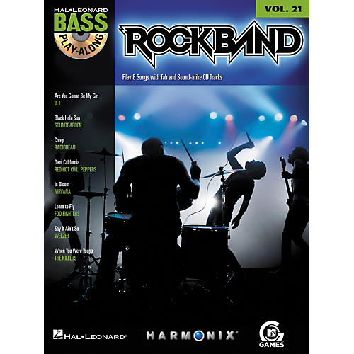 Hal Leonard ROCK BAND - BASS PLAY-ALONG (MODERN ROCK EDITION) VOLUME 21 BOOK/CD-thumbnail