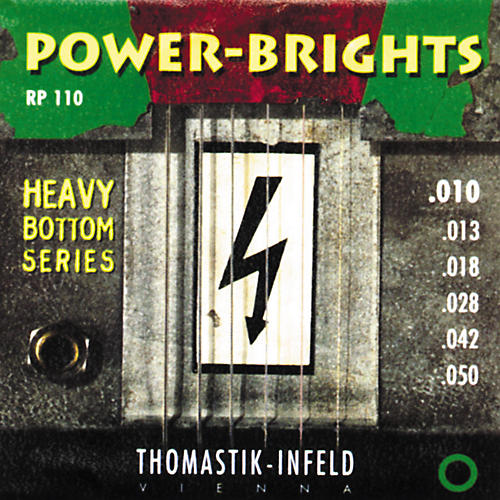 Thomastik RP110 Power-Brights Heavy Bottom Medium-Light Electric Guitar Strings-thumbnail