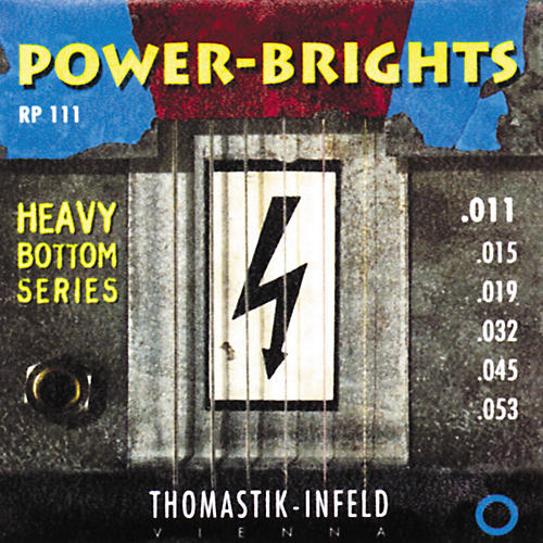 Thomastik RP111 Power-Brights Heavy Bottom Medium Top Electric Guitar Strings-thumbnail