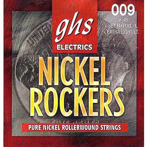 GHS R+RXL/L Nickel Rockers Roundwound Extra Light/Light Electric Guitar Strings