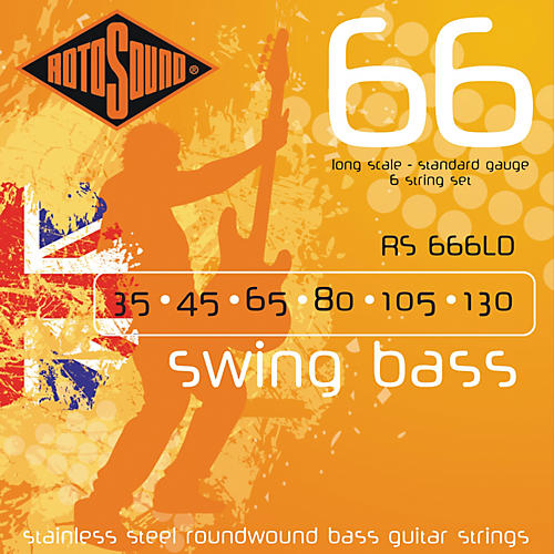 Rotosound RS666LD 6-String Roundwound Bass Strings-thumbnail