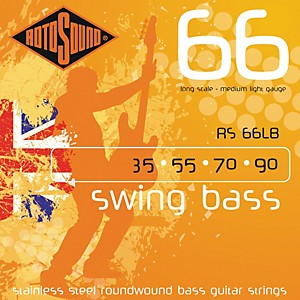 Rotosound RS66LB Medium Light Long Scale Bass Strings by Rotosound