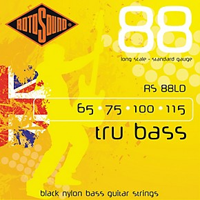 rotosound rs88ld trubass black nylon flatwound bass strings guitar center. Black Bedroom Furniture Sets. Home Design Ideas