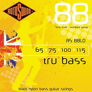 Rotosound RS88LD Trubass Black Nylon Flatwound Bass Strings by Rotosound