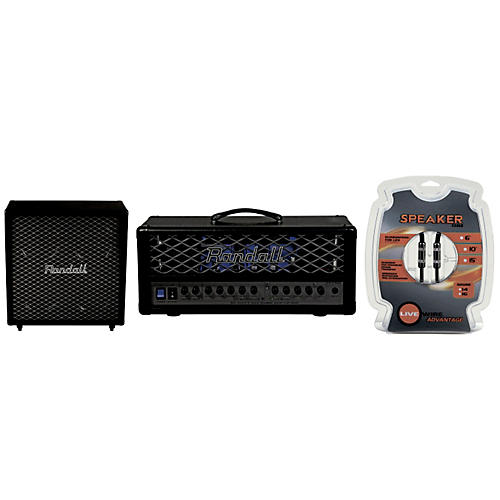 Randall RT Series RT50H 50W Tube Amp and RT412CX Cabinet Half Stack