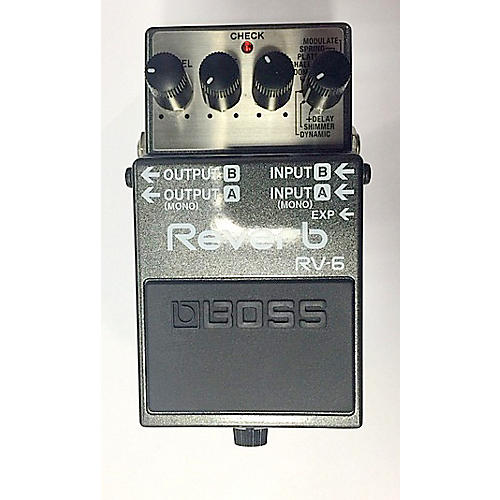 used boss rv 6 reverb pedal effect pedal guitar center. Black Bedroom Furniture Sets. Home Design Ideas