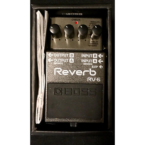 Boss RV6 Digital Reverb Effect Pedal-thumbnail