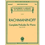 G. Schirmer Rachmaninoff Complete Preludes for Piano Op3 Op23 Op32 Centennial Edition By Rachmaninoff