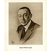 Music Sales Rachmaninov (Lupas Large Portrait Poster) Music Sales America Series
