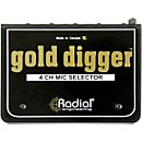 Radial Engineering Gold Digger 4-Channel Mic Selector