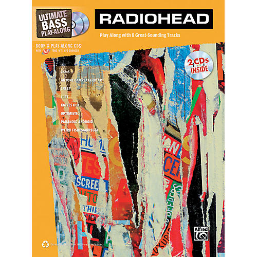 Alfred Radiohead Ultimate Play-Along Bass TAB Book & 2 CDs-thumbnail