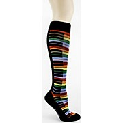 Foot Traffic Rainbow Piano Knee High Socks