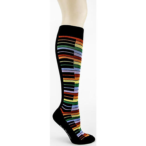 Foot Traffic Rainbow Piano Knee High Socks-thumbnail