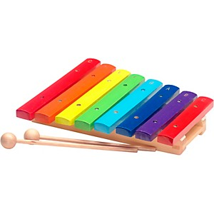 Stagg Rainbow Xylophone, 8 Keys, C-C by
