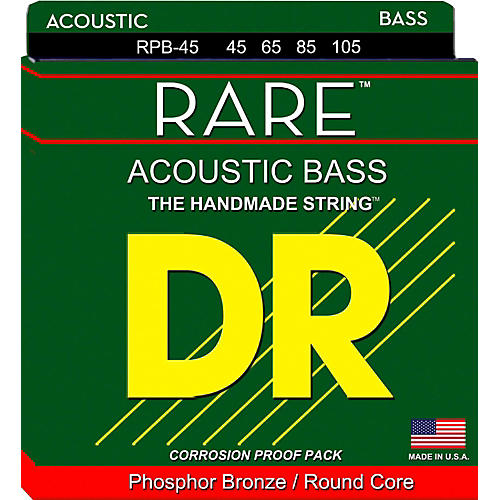 DR Strings Rare Phosphor Bronze Acoustic Bass Strings-thumbnail