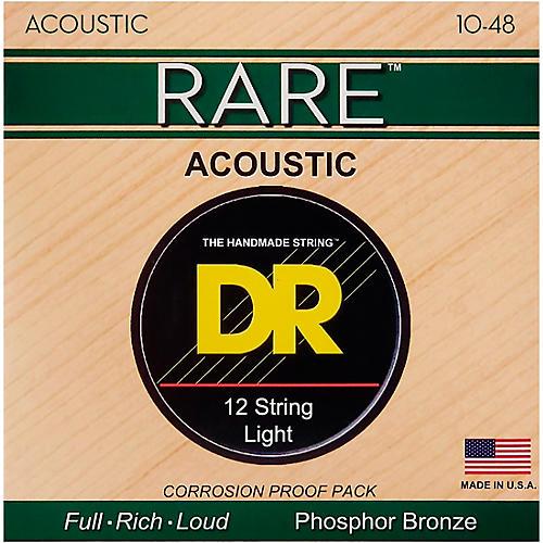 DR Strings Rare Phosphor Bronze Lite 12-String Acoustic Guitar Strings-thumbnail