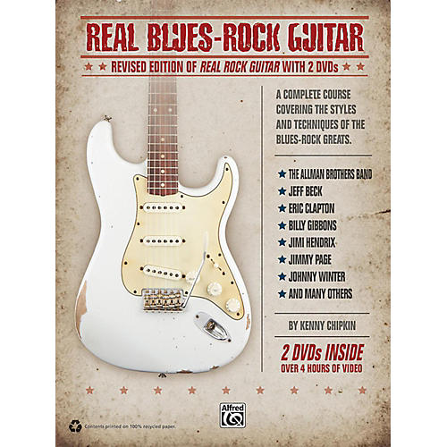 Alfred Real Blues-Rock Guitar (Revised) Book & 2 DVDs