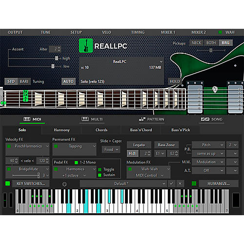 MusicLab RealLPC Les Paul Custom Virtual Guitar Software Download