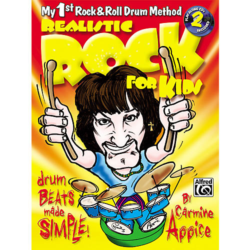 Alfred Realistic Rock for Kids (My 1st Rock & Roll Drum Method) Book & 2 CDs-thumbnail
