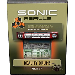 Sonic Reality Reason 3 Refills Vol. 07: Reality Drums by Sonic Reality