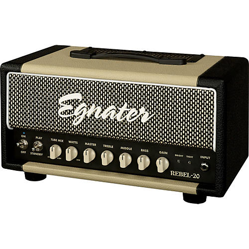 Egnater Rebel-20 20W Tube Guitar Amp Head Black and Beige
