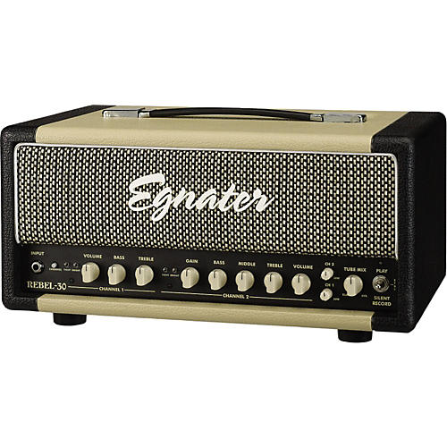 Egnater Rebel-30 30W Tube Guitar Amp Head Black, Beige
