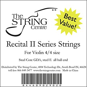 The String Centre Recital II Violin String set by The String Centre
