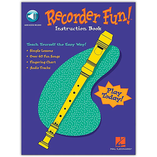 Hal Leonard Recorder Fun - Teach Yourself The Easy Way Book/CD