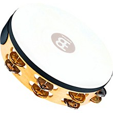 Meinl Recording-Combo Goat-Skin Wood Tambourine Two Rows Dual Alloy Jingles