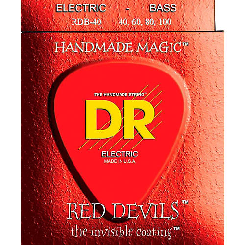DR Strings Red Devils Coated 4 String Bass Light (40-100)-thumbnail