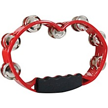 Tycoon Percussion Red Hand Held Plastic Tambourine