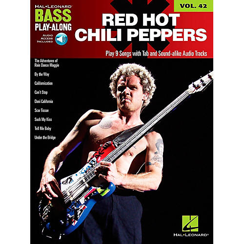 Hal Leonard Red Hot Chili Peppers Bass Play-Along Volume 42 Book/CD