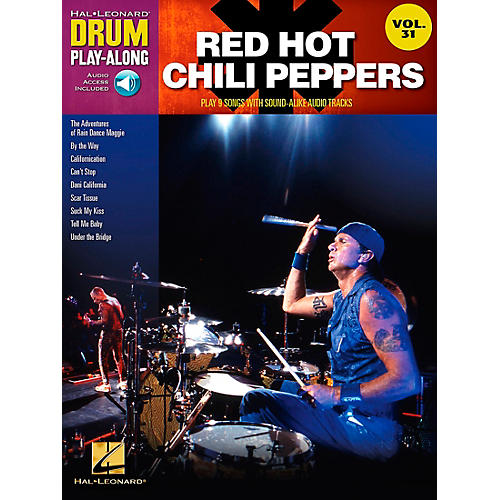 Hal Leonard Red Hot Chili Peppers Drum Play-Along Vol. 31 (Book/CD)-thumbnail