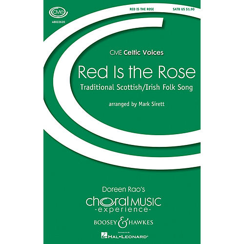 Boosey and Hawkes Red Is the Rose (CME Celtic Voices) SATB arranged by Mark Sirett