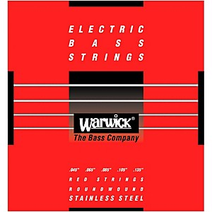 Warwick Red Label 5 String M Low B Stainless Steel Bass Strings by Warwick