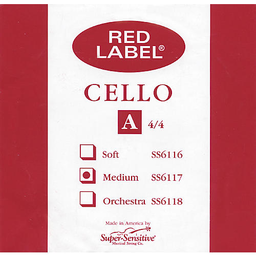Super Sensitive Red Label Cello A String-thumbnail