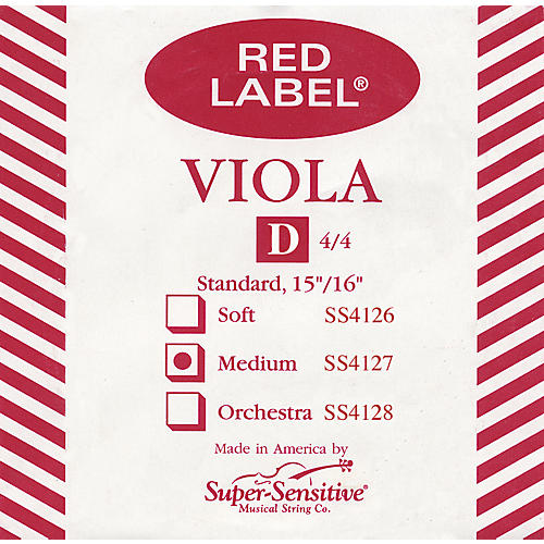Super Sensitive Red Label Full Viola D String-thumbnail
