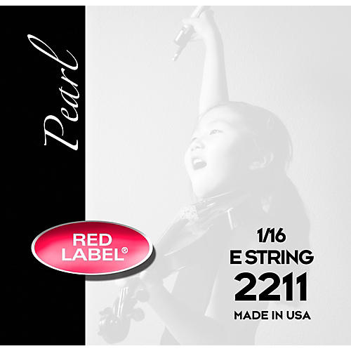 Super Sensitive Red Label Pearl Nylon Core Violin E String 1/16 Size