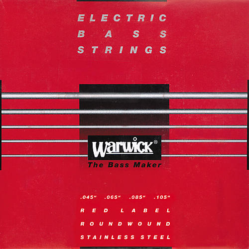 Warwick Red Label Stainless Wound Medium 4-String Bass Strings-thumbnail