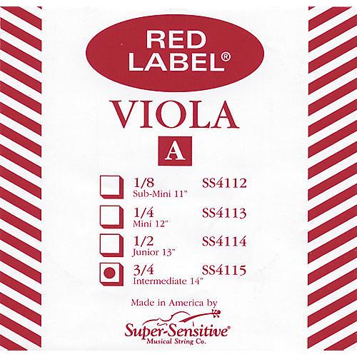 Super Sensitive Red Label Viola A String  Intermediate