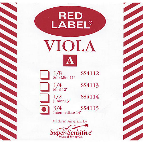 Super Sensitive Red Label Viola A String  Full-thumbnail