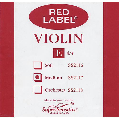 Super Sensitive Red Label Violin E String  4/4