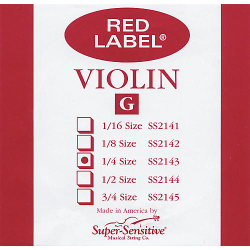 Super Sensitive Red Label Violin G String-thumbnail
