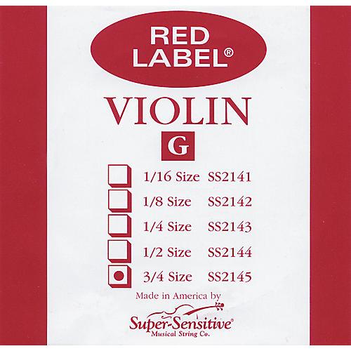 Super Sensitive Red Label Violin G String  3/4