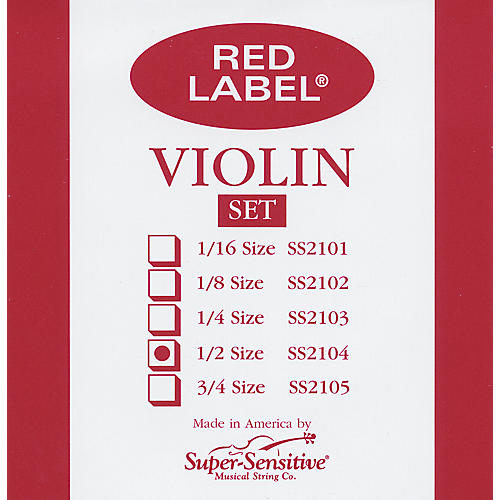Super Sensitive Red Label Violin String Set-thumbnail