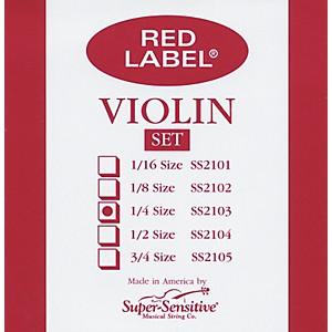 Super Sensitive Red Label Violin String Set