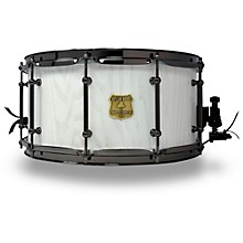 OUTLAW DRUMS Red Oak Stave Snare Drum with Black Chrome Hardware